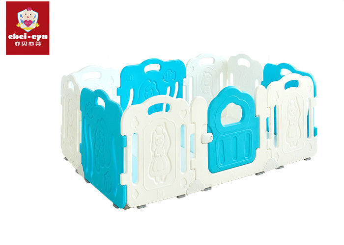 Kids Safety Playpen / Kids Play Yard Baby Fence Blue and White Color