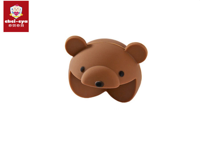 Harmless Brown Bear Table Corner Safety Guards Silicone Material Collision Angle