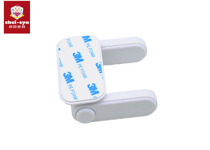 ABS Material Baby Door Handle Lock Push Button Long Lifespan Rohs Certificated